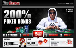 BetOnline is our recommended Atlantic City online poker site